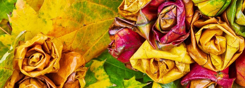 Rozen gemaakt van bladeren